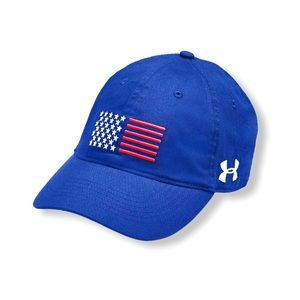 Under Armour Workout Blue Hat USA Ladies Cap NWT